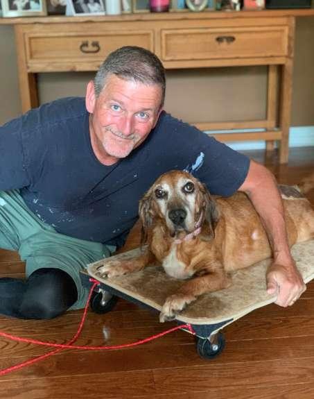 狂爸為愛犬打造「超實用推車」帶牠趴趴走 揭開背後「暖心原因」讓網爆淚!