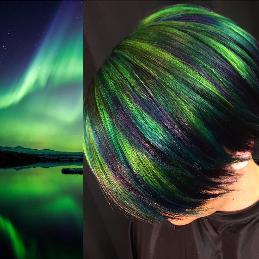 14個神手造型師的「大自然系夢幻髮色」 「整片極光」複製在頭上!