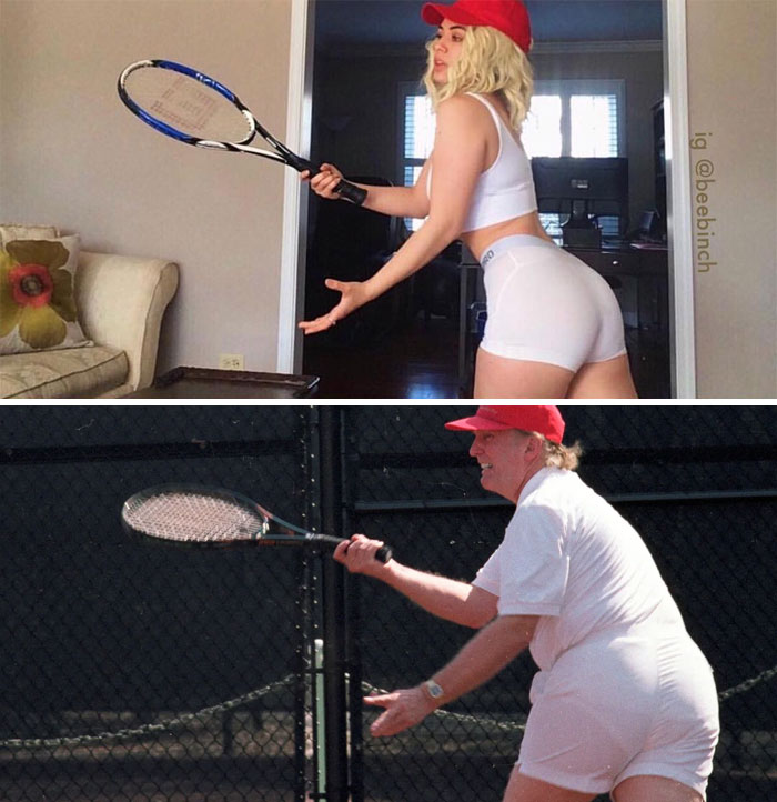 15個「搞怪cos正妹」的爆笑特殊角色 「川普打網球」相似度太高!