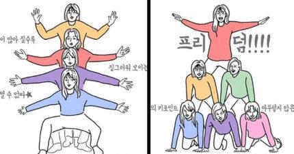韓國創意「團體照挑戰」被瘋傳 網看「全員倒立」大傻眼:誰能做到?