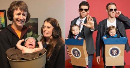 爸媽為小孩打造史上最萌Cosplay 瑪利歐寶寶「在水管裡」萌爆!