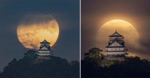 美到令人屏息!日本超夢幻「中秋月亮」照網瘋傳 黑雲左右環繞神似遊戲畫面