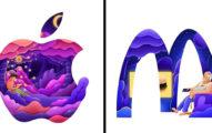 藝術家把12個「知名Logo→彩色系列」被讚爆 NIKE加入「長髮女孩」設計超有意義!
