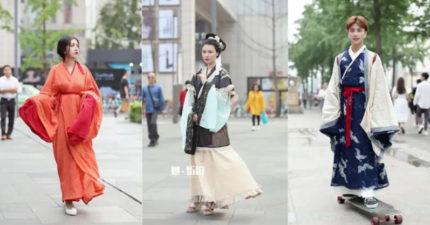 「漢服」時尚正夯!中國年輕人瘋漢服「街頭人人都在穿」 一年內漢服粉「直接多一倍」