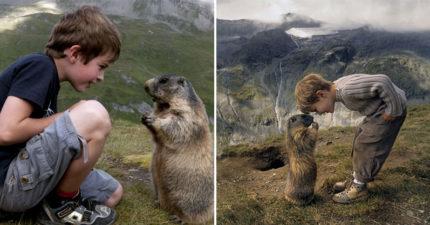 11歲男童與高山土撥鼠「每年見一次」超可愛友情紀錄!母驚嘆:牠們從沒忘記他
