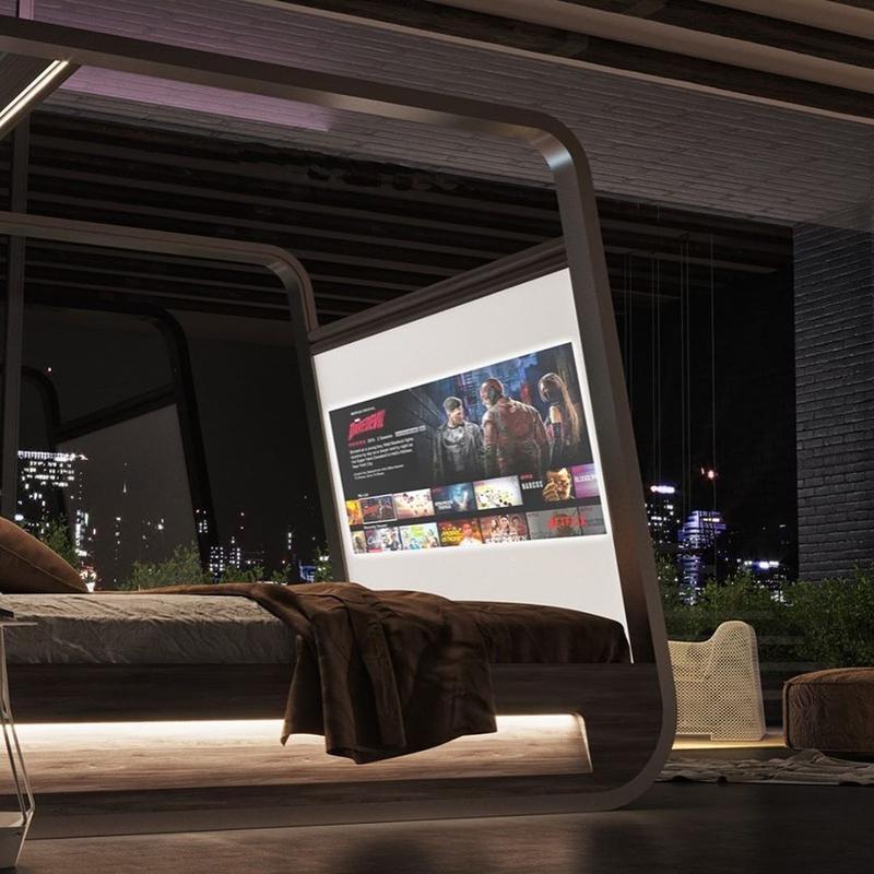 耍廢神器來了!智能神床「内設投影機、大螢幕」價格曝光卻惹議:有錢人專利?