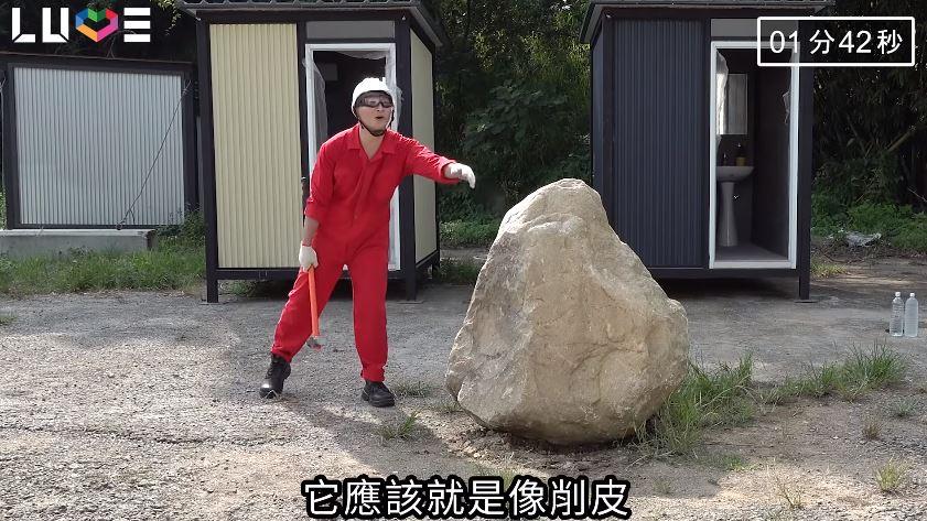 影/谷阿莫挑戰「胸口碎大石」展現毅力 最後連「胸口」都斷了…網看結果嚇壞!