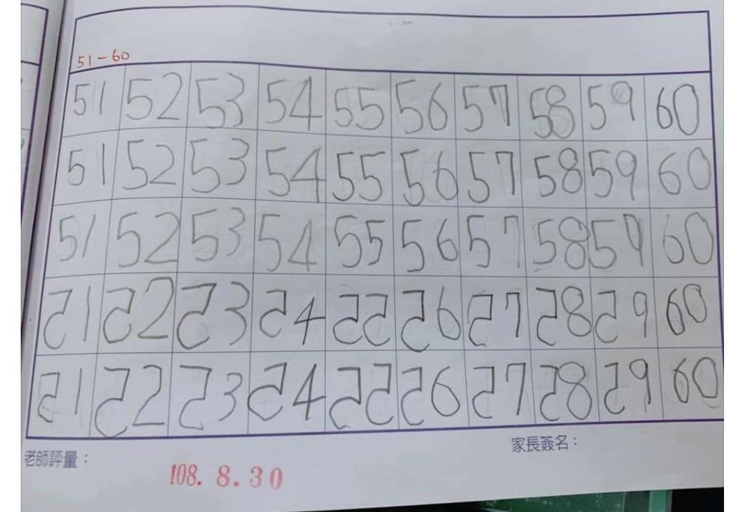 練習寫數字!女兒寫完媽一看「全是反的」崩潰求救:為什麼變鏡像?