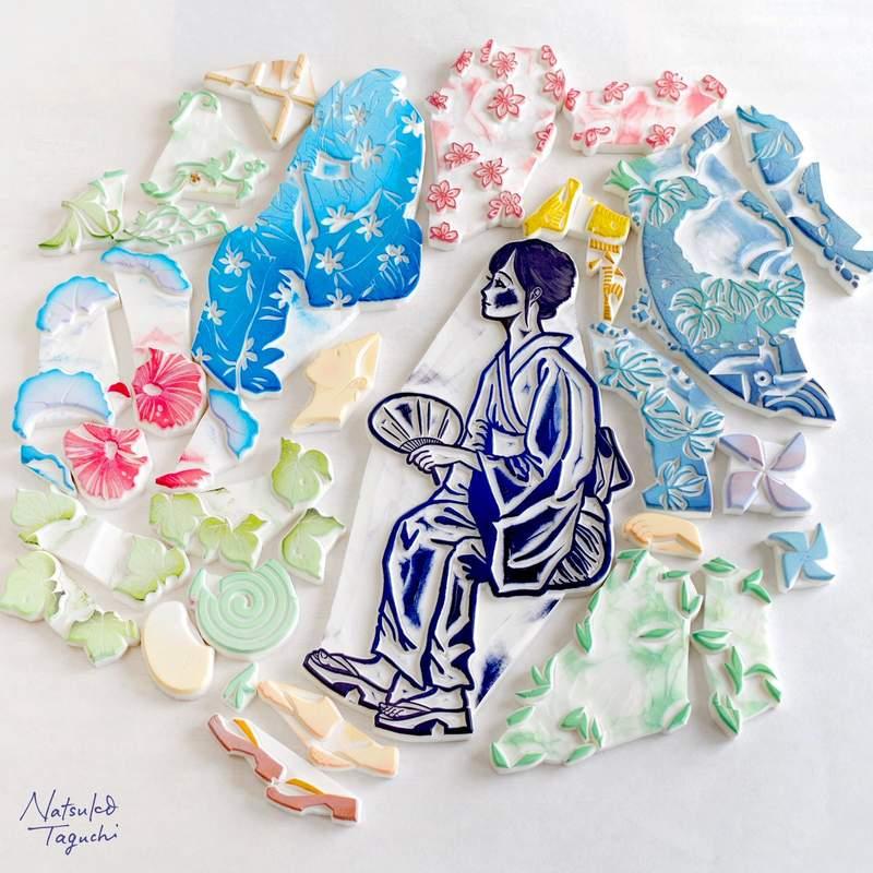 神人用橡皮擦創造比版更美「古法藝術」 疊色過程超舒壓「金魚畫」讓人驚豔!