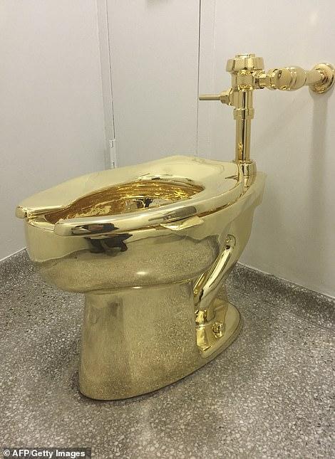 英國「1億黃金馬桶」被偷走!淩晨整個「連根拔起」大漏水 莊園安全系統被狠打臉