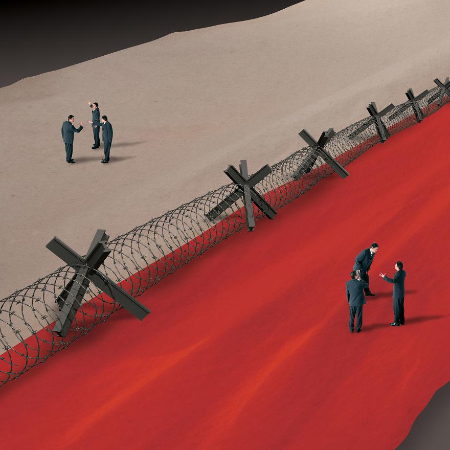 你真的了解這個社會嗎?20張讓你不禁「停下來思考」黑暗諷刺插畫