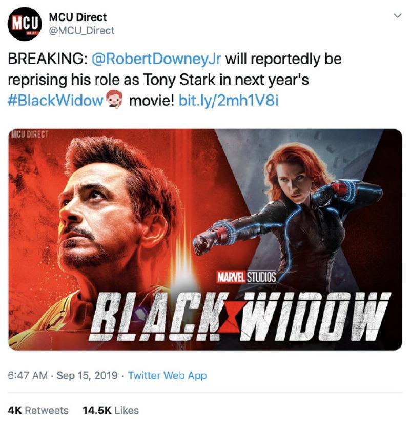 「鋼鐵人」將在《黑寡婦》電影出現?網看他驚喜客串「關鍵時間點」:太期待!