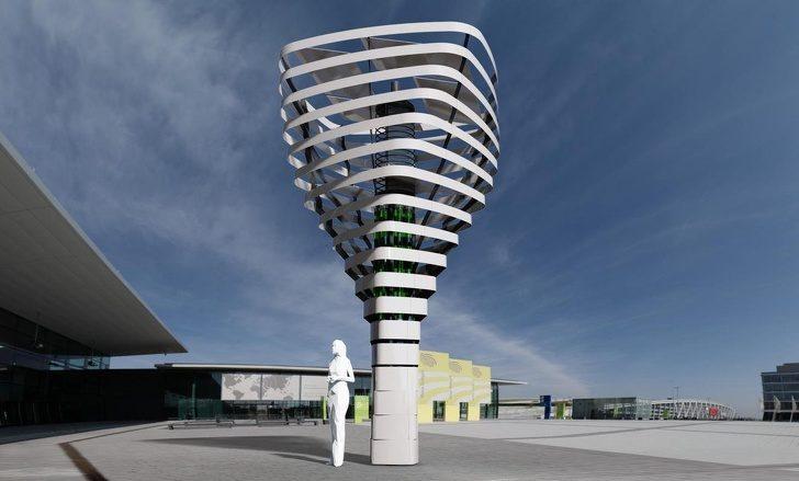 全新「機器人樹塔」可以把污染物→乾淨氧氣! 一棵「等於368棵樹」多國搶裝:地球有救了