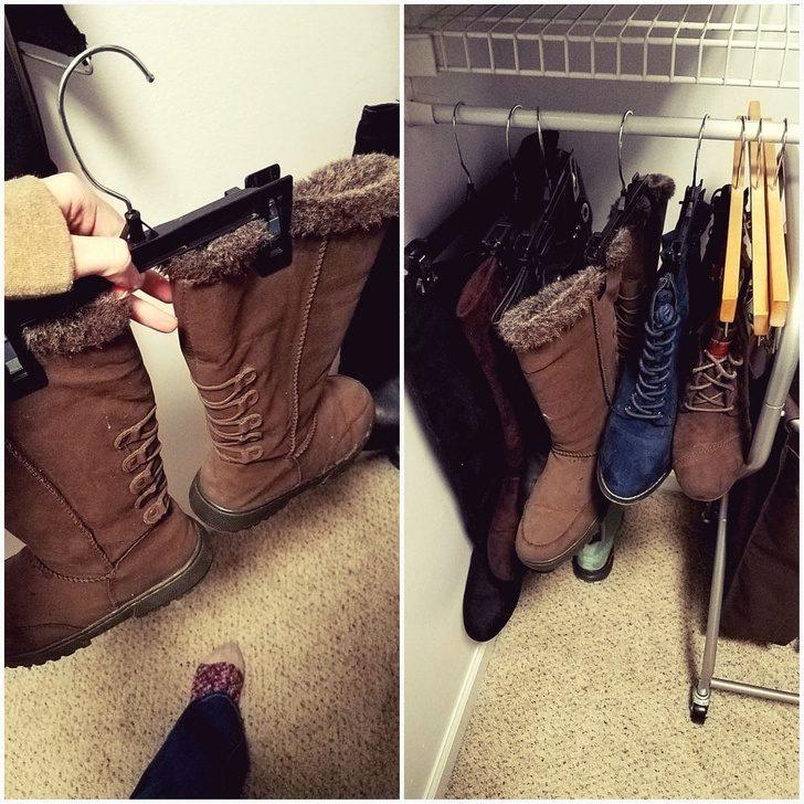 20件「讓生活更簡單」的超聰明日常妙招 衣架可以讓你「多買10雙鞋」!