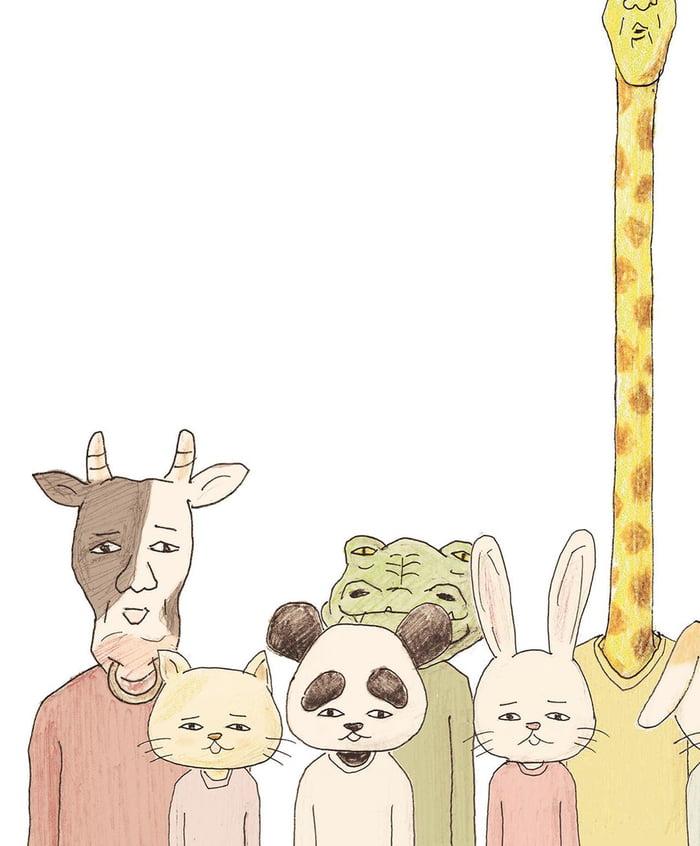 19張「長頸鹿先生荒謬日常」的療癒系插畫 自拍要出動「空拍機」朋友都變小黑點…