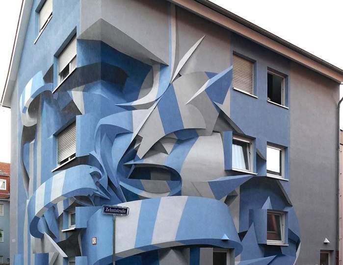 藝術家打造「3D建築」角度超詭異 走進看「側面圖」網友傻眼:是平的!