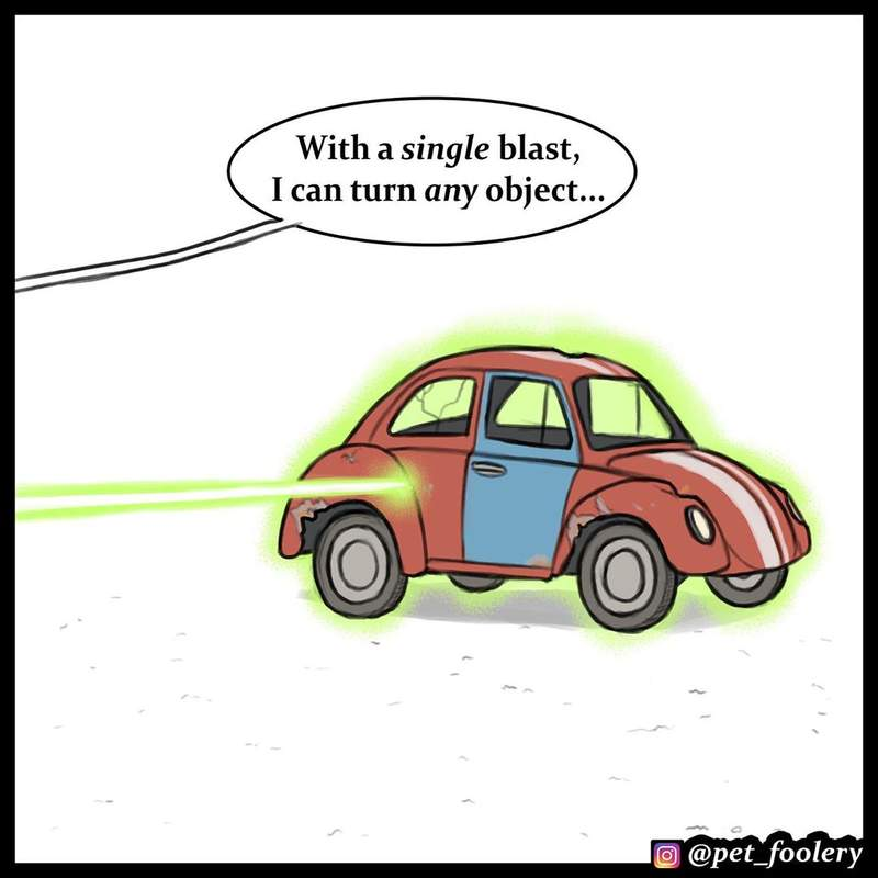 9張「如果科學家發明了進化射線」爆笑漫畫 本來可以統治世界...結果又被牠毀了!