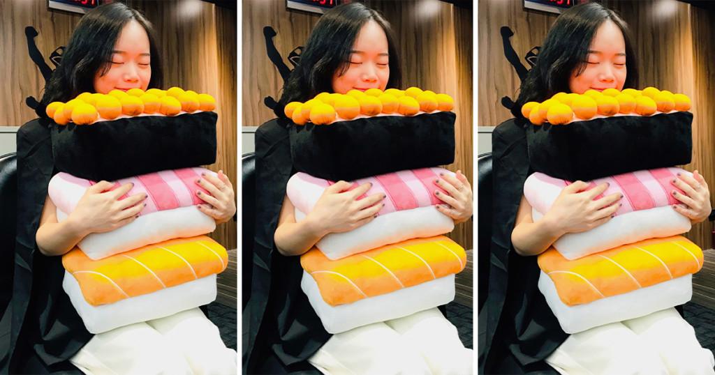 日式料理店推限量「巨型壽司抱枕」立體設計超Q!「可拿下的鮭魚子」一顆顆超飽滿❤