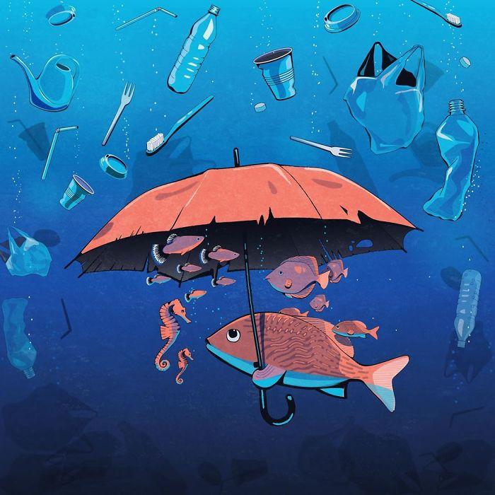 20張藝術家「諷刺現代社會」的勸世插畫 不管窮人或富人都只有「同一個想法」