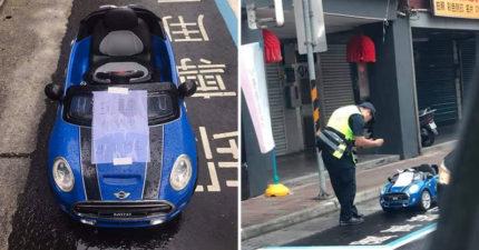 敞篷跑車「違停卸貨區」車主還怒嗆:不准移車 警察「照樣開單」笑翻:玩具也得罰!
