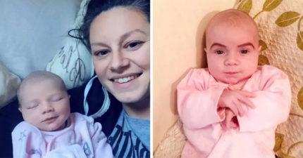 27歲嫩媽「為了教訓寶寶」出奇招 趁女兒睡着「畫上超濃眉毛」甚至還準備更狂計劃!