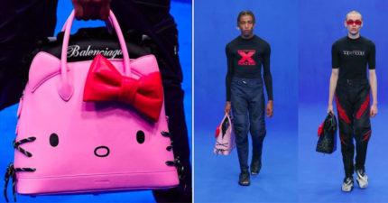 巴黎世家推「男人專用」的Hello Kitty包 超精緻「皮革款式+大蝴蝶結」男友必收!