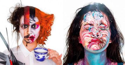 16歲「神手姐妹」打造超強藝術妝 電影中「所有角色」同時出現!