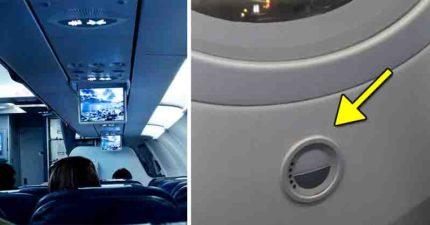 他驚見飛機窗下「神秘圓形按鈕」 按下後嚇到發文...網友解析「超強大功能」太先進!