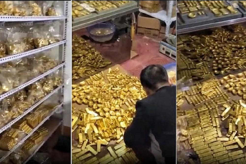 中國官員家中藏「13噸黃金」被突擊搜查 住家重現《阿拉丁》寶藏奇景全場看傻眼!