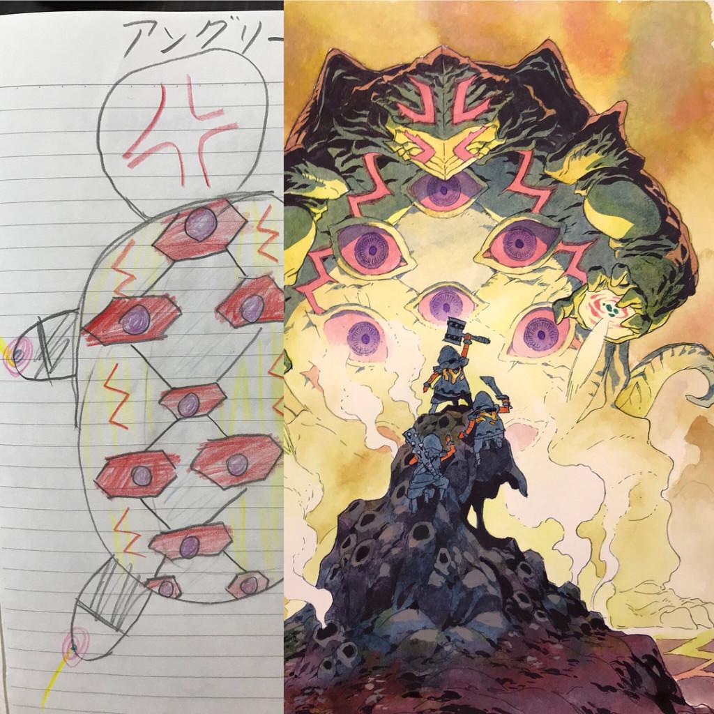 新圖/超神畫家老爸「把兒子塗鴉→超帥動漫人物」 角色大集合曝光...這世界觀可以拍電影!