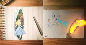 卡通「走進生活」的3D神奇畫 小熊維尼「拿著自己」飛上天!