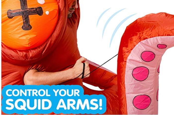 萬聖節Cosplay大戰!網拍推「大魷魚充氣裝」超獵奇 觸腕「可靈活擺動」秒變焦點