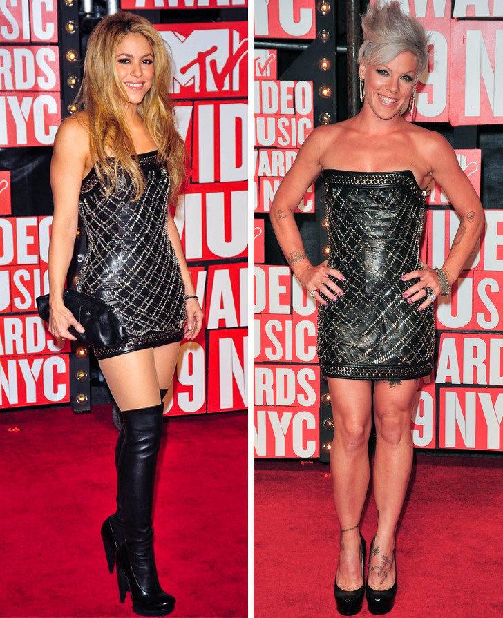 17組巨星「不小心撞衫」的尷尬時刻 「小丑女vs第一夫人」誰比較美?