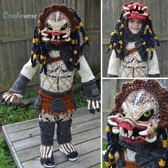 天才媽為孩子「手作編織」超精緻萬聖節服裝 神還原小丑、哈利波特造型網路爆紅!