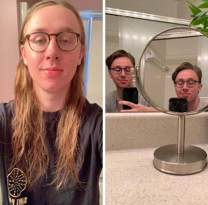 17張證明改變髮型「能讓任何一個男生變希臘天神」的前後對比照