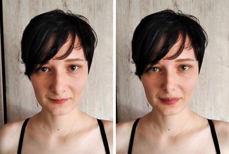 為什麼網路上「女神這麼多」?她改變「眼球顏色」就像換了一張臉!