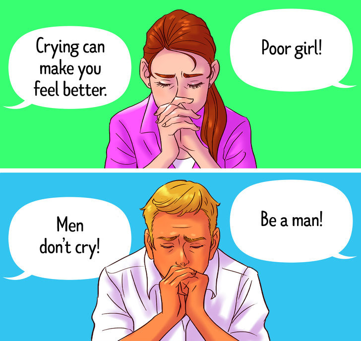 11個「毀掉文明世界」的社會雙重標準 男生再心痛也不准哭!