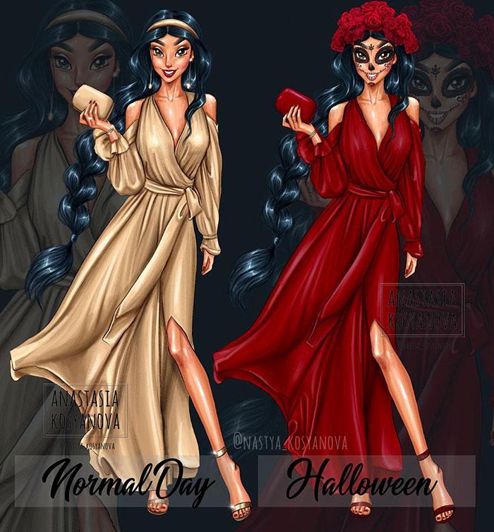 迪士尼公主的萬聖節變裝!長髮公主→地獄新娘化居然超適合 寶嘉康蒂也太嚇人
