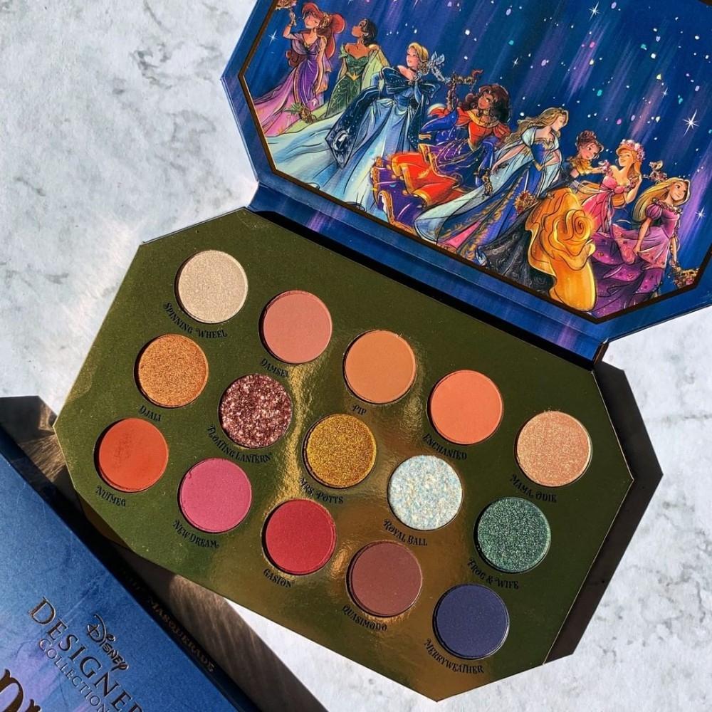Disney聯名Colour Pop推「公主舞會眼影盤」 8位公主8個顏色「午夜藍」超美