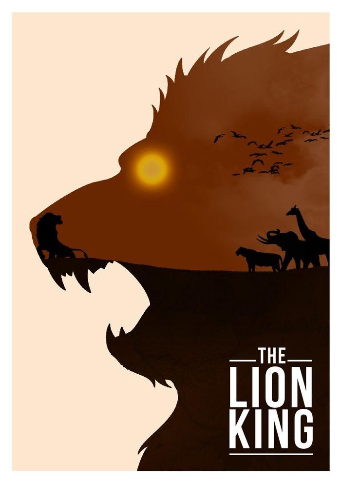16張迪士尼「極簡成人版」的經典電影海報 一朵紅玫瑰藏著「美女與野獸」!