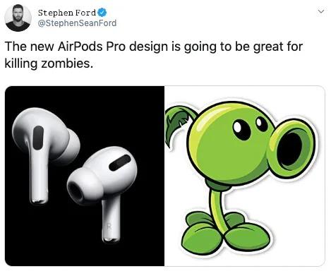 全新「AirPods Pro」造型太前衛 改版設計「太獵奇」網展開P圖大戰:吹風機?