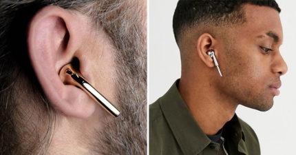 Airpods太貴?設計品牌推出超平價「Airpods耳飾」 遠看「完全沒破綻」網笑:裝逼神器XD