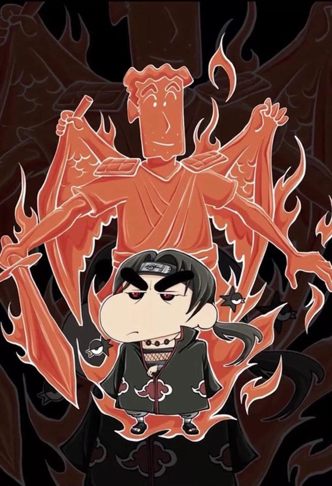 如果蠟筆小新Cosplay《火影忍者》角色會怎樣?粉絲看到笑翻:佐助的須佐能乎...居然是他!