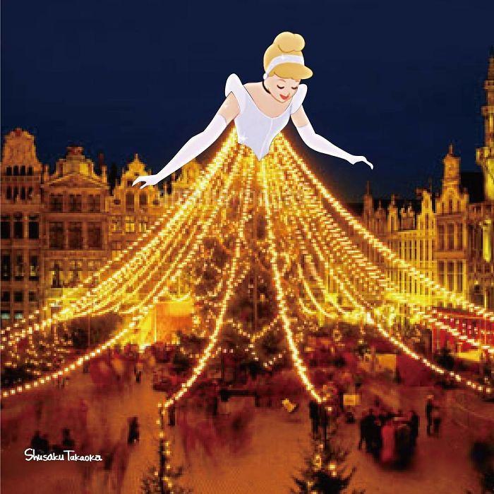 藝術家P出「迪士尼被各種亂入」完全無違和 灰姑娘試穿玻璃鞋...卻瞬間崩壞!
