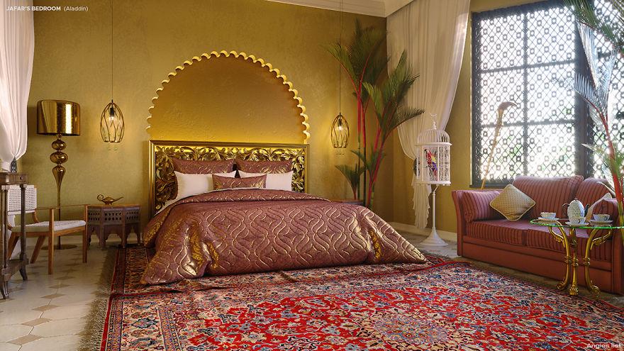 他設計出「迪士尼反派房間」裝潢配色都超符合人設 黑魔女房間超美!