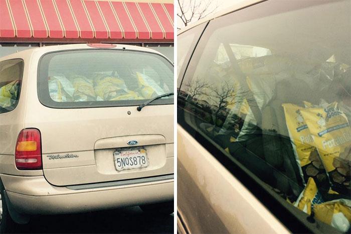 20張「沒忍住衝動」的誇張爆買照 司機「消失在零食裡」畫面超爆笑!