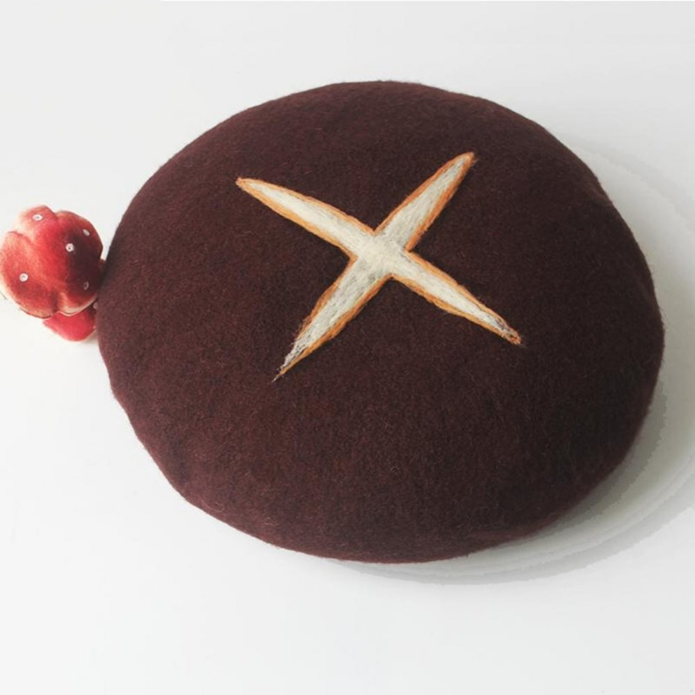 櫻花妹瘋搶「香菇貝雷帽」羊毛材質超舒服 戴上秒變會走路的火鍋料❤