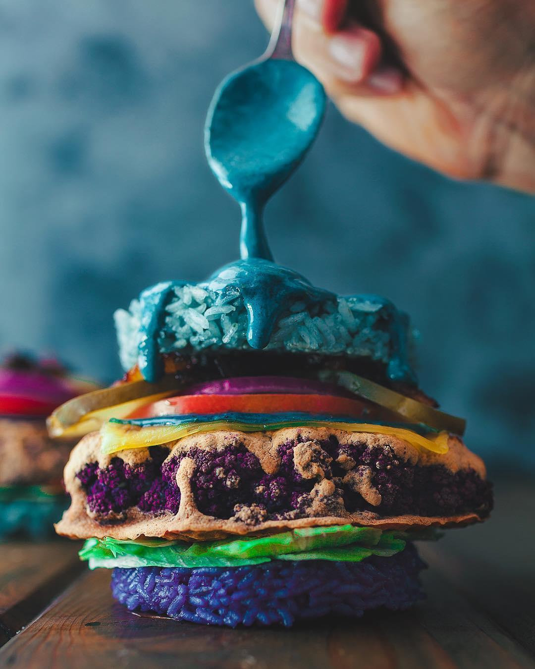 20張「獨角獸系美食」而且很健康 「彩虹色漢堡」美到不科學!