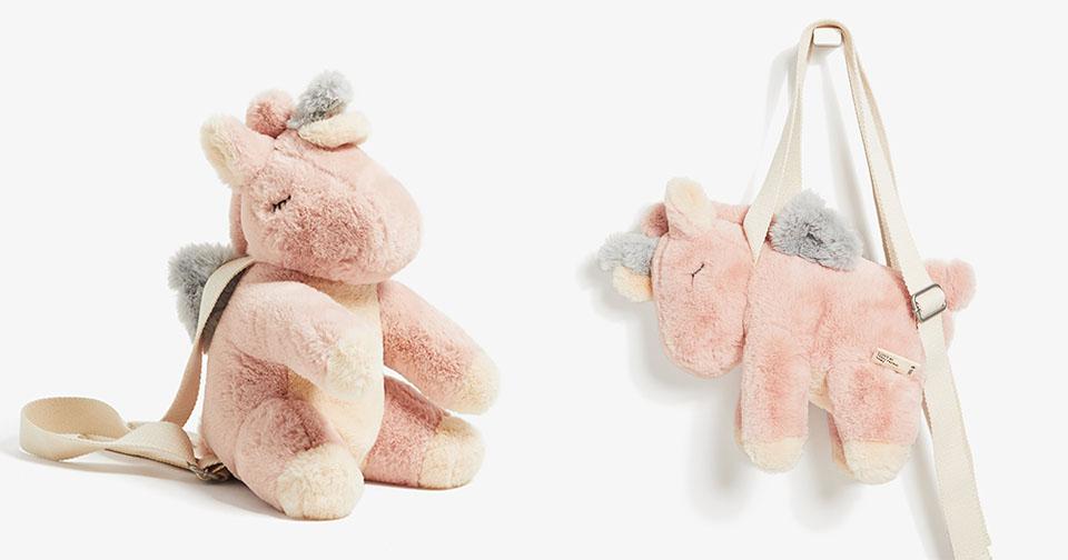 繼全球瘋搶小豬包後...ZARA再推超Q「獨角獸包」 乾燥玫瑰色「獨角獸耳罩」美翻天!
