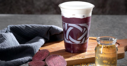 挑戰市場最「厚工」飲料!天仁CHAFFEE冬季限定「桂花紫薯茶王拿鐵」霸氣上市